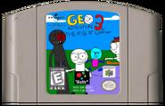 Geo Adventure 3 N64 cartridge NTSC
