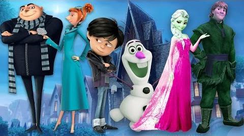 Finger Family Children Nursery Rhymes Minions Cartoons Frozen Finger Family