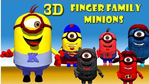 Super Heroes Finger Family 3D Funny Minions finger Family Rhymes