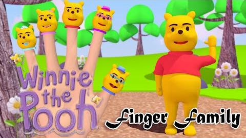 Winnie The Pooh 3D Finger Family Nursery Rhymes 3D Animation In HD From Binggo Channel