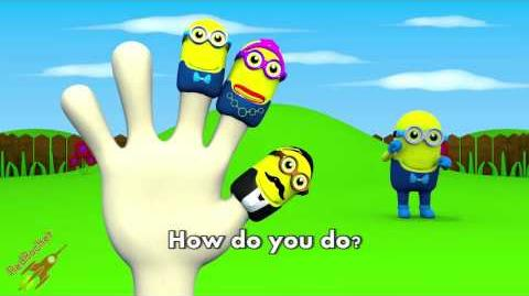 3D Minions Finger Family Red Rocket Channel