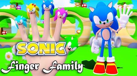 Sonic 3D Finger Family Nursery Rhymes 3D Animation In HD From Binggo Channel