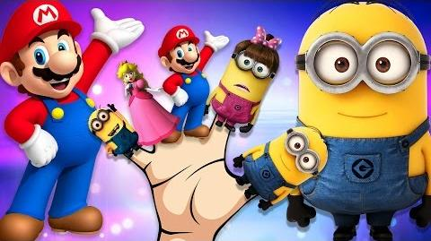 Minions Cartoons For Children Finger Family Rhymes Super Mario Finger Family Nursery Rhymes