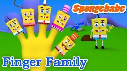 3D SPONGEBABE Finger Family Nursery Rhyme Parody Finger Kids Song