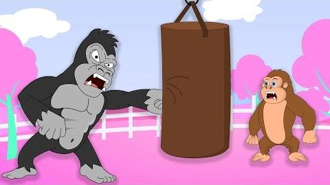 Kung Fu Gorilla Finger Family Cartoons for Children and more Superhero Animals cartoons