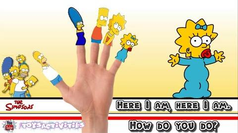 The Simpsons Family Finger Family Collection Finger Family Songs The Simpsons Finger Nursery Rhymes
