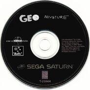 Geo Adventure Sega Saturn disc NTSC