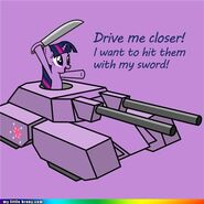 Twilight Sparkle in tank words