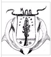 Wappen der Insel mit Delfinen