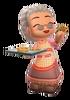 Grandma Ruthie MySims Kingdom Original Outfit