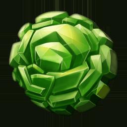 Polished vegidian crystal