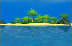Flowering island view