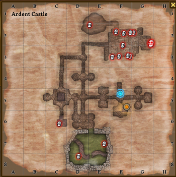 Ardent castle map