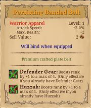 Persisting banded belt 1