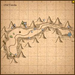 Old verda map
