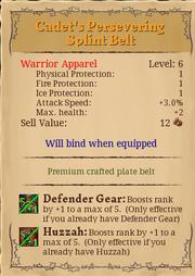 Cadet' persevering splint belt 6