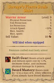 Savage's fierce scale shrit 9