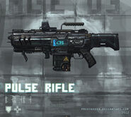 Pulse rifle weapon concept by proxygreen-d5c3ve4