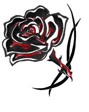 File:Blood soaked black rose tattoo by greatthepat.jpg