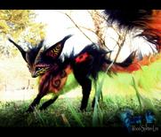 Sold posable fantasy fire fox by wood splitter lee-d5o8ejz