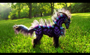Sold poseable fantasy galaxy horse by wood splitter lee-d67pzzq