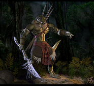 Aphashia Lizardman Warrior by Shinsen