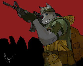 MACV SOG furry soldier by McBohsta