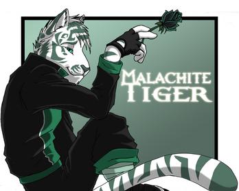 Malachite Tiger by SapphWolf