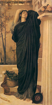 180px-1869 Frederic Leighton - Electra at the Tomb of Agamemnon