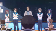 Chisaki,Kaname,Hikari, and Manaka introducing them self infront of their new class