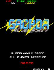 Grobda title screen