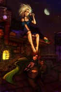 Auri on the rooftops-500x750