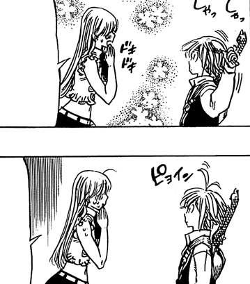 File:Meliodas trying the comb Elizabeth gave him.png