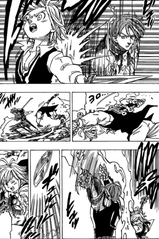 File:Meliodas blocking Gilthunder's attack from behind, but loosing his sword.png