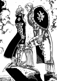 Escanor confronts Estarossa