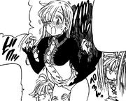 Meliodas harrassed Elizabeth