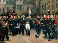 Napoleon's farewell to the Guard at Fontainbleau-April 20th, 1814.jpg