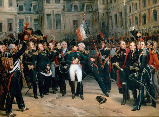 File:Napoleon's farewell to the Guard at Fontainbleau-April 20th, 1814.jpg