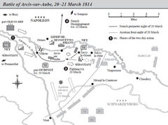 Battle of Arcis-Sur-Aube map