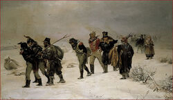 French retreat russia