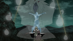 Minato summons the Shinigami