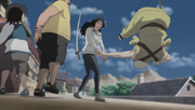 Shiseru disarms the village head
