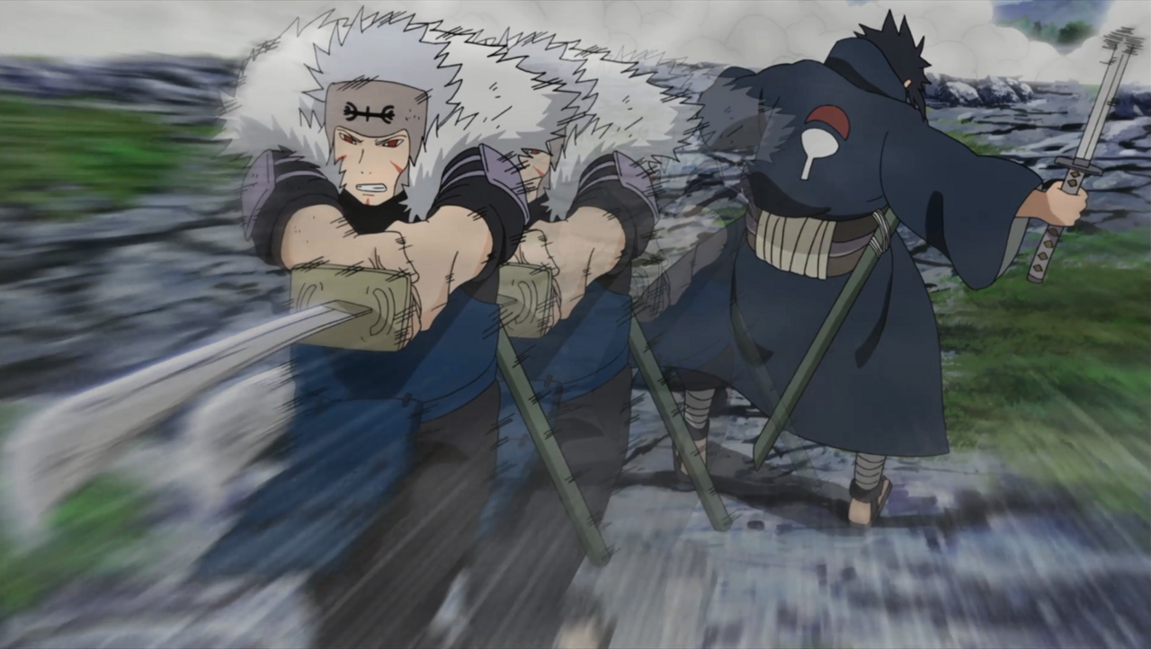 Izuna being mortally wounded by Tobirama.