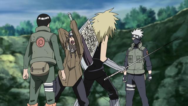 File:Guy and Kakashi vs Swordsmen.png