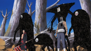 Hidan and Kakuza vs Team Asuma
