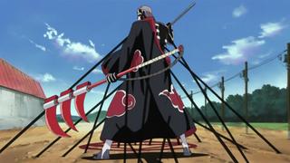 Hidan restrained by Shikamaru