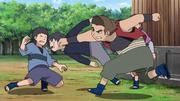 Dokan punches Itachi's clone