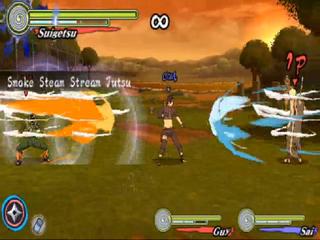 Smoke steam stream jutsu