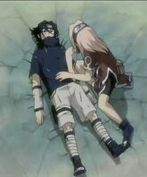 Sasuke and sakura - waves arc