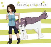 Kazumi and akita by inuzuka kazumi-d3c4yd8
